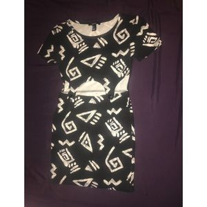Black and White Aztec Dress
